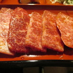 焼肉家族 - 「上カルビ定食」(1,380円)