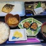 酒房 きさらぎ - 日替り定食750円、茄子そぼろ味噌メチャ旨!