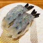 回転寿し 氷見 きときと亭 ジャズドリーム長島店 - 天使のエビ。甘みがあって美味しい。コスパにも合うひとさら。