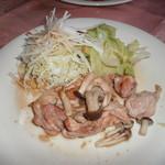 モンシャーレ - チキンときのこの生姜焼き