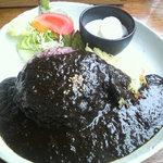 7633822 - 黒米黒カレーランチ。サラダ+ポテト+ヨーグルト付き☆