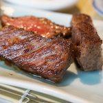 日本蕎麦&鉄板ダイニング 三ヶ森 - 伊万里牛ステーキ。
