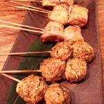鶏と魚と野菜とMomiji - 串焼き
