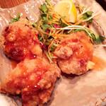 鶏と魚と野菜とMomiji - 鶏肉のカリッと揚げスイートチリソース