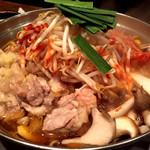 鶏と魚と野菜とMomiji - 鶏キムチーズ鍋