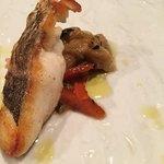 76337435 - メイン魚料理 真鯛のソテー エスカリバーダ(焼パプリカ焼きなす)と共に 鯛の皮はぱりっと焼き上げられ、なすとパプリカ、オリーブオイルにも絡んでねっとり旨。