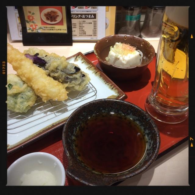 ヽ松 , 生ビールセット 490円