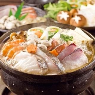 【冬季限定】『〜海の幸鍋〜忘年会』コース3H飲放3,800円