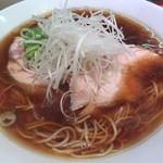 76341172 - チャーシュー麺(米朝)+鶏コンフィ+豚コンフィ