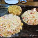 76341358 - 左から福竹チーズ、カレー天、福竹天(17-11)