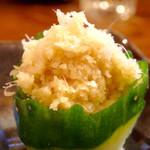 酒饌亭 灘菊 - 〆さばに付いてくる生姜のアップ。