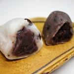 五十鈴 - 豆大福と亥の子餅・断面
