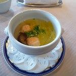 中国料理 桃林 - 野菜と海鮮のふかひれ入り蒸しスープ♪