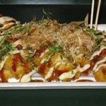 越殿楽 - たこ焼き風鶏天390円