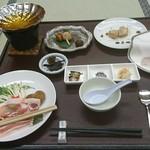 シーサイドホテル屋久島 - 夕食(黒豚しゃぶしゃぶ等)