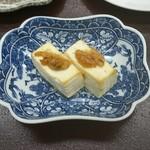 シーサイドホテル屋久島 - 島豆腐に鯖味噌のせ