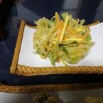 長竿亭 - 季節の野菜かき揚げ天