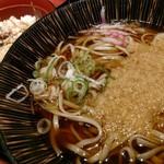 嵯峨谷 - あじご飯セット。暖かいのが美味しい季節になってきた。