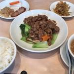 香港 - スペシャルセット 牛肉XO醬炒め 1200円。