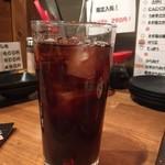 徳川ホルモンセンター - カシスウーロン お酒は結構濃いめで作ってくれているようです(^0^)b 2017/11/12