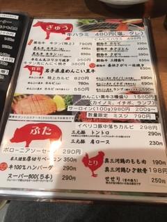 徳川ホルモンセンター - メニュー6 2017/11/12