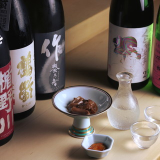 鮨、肴と合う地酒をご用意。ご一緒にどうぞ。