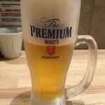 麺家獅子丸 - 生ビール400円