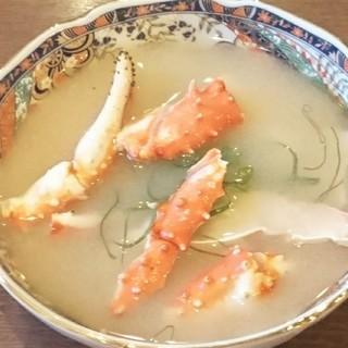 カニ汁(税抜き400円)