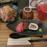 佰食屋肉寿司専科 - おすすめ定食 Cセット 1,188円(税込)