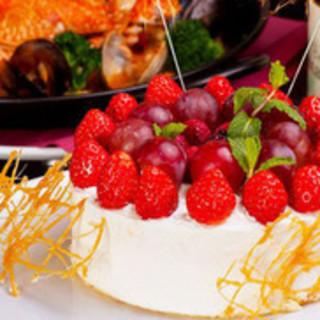 バースデーケーキのご用意あり!お誕生日祝いにもぴったり♪