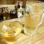 神戸餃子 樂 - 梅酒とハイボール