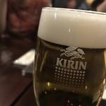 ノーウェジアン ウッド - 生ビール 600円。