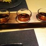 星期菜 - 紹興酒3種呑み比べ(5年、10年、15年)