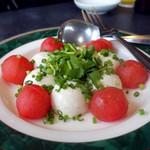 太原 - 胡麻豆腐とトマトの冷菜1,500円+税