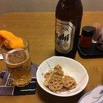鳩ぽっぽ - 先ずは瓶ビールから