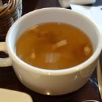 IMAMURA KITCHEN ILCUORE - プレートランチのスープ