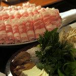 彩食健美 くり田 - しゃぶしゃぶ肉。