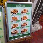 珈琲苑 - サンドウィッチ系のメニューです