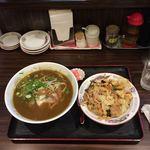 紅華 - カレーラーメン+ミニ紅華丼   ¥850