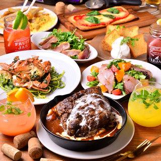 【特典付き】塊肉シチュー・渡り蟹のパスタなど!新年会コース