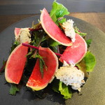 76402566 - 鎌倉野菜の彩りハーブサラダ&秋鯖のリエット