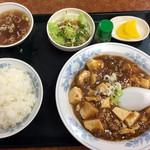 中華新楽 - マーボトーフ定食700円