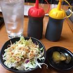 76403717 - 定食 サラダ  漬け物