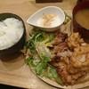 レアル グランデ - 料理写真:レアル定食 1,350円 から揚げ+もも焼き+サラダ+お漬物+お味噌汁+とろろ+ごはん
