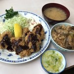 磯野家 - カキフライ定食・かきめし(小)1650円