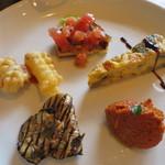 トラットリア クアクア - プランツォ:本日の前菜盛合せ