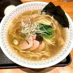 勝本 - 塩そば(750円)、別皿味玉(100円)