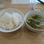 栄児 家庭料理 - ご飯とスープ