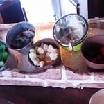 野菜と炭火肉&魚介 GOOD FARMS KITCHEN - サラダバーは2階