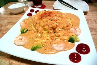 cafe&dining fleur 京都店 - 小海老とアボカドのオムライス